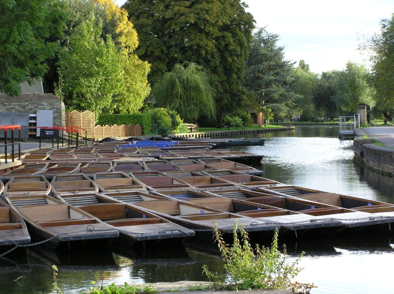 Punts waiting for customers