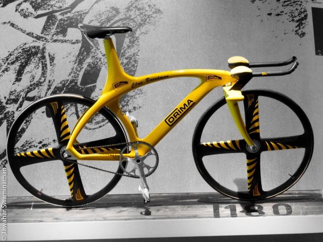 Yellow bicycle